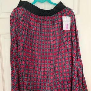 LuLaRoe NEW Jill Pleated Plaid Skirt. Medium.
